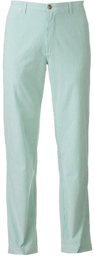 Chaps striped seersucker flat-front pants