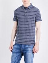 HUGO BOSS Striped jersey polo shirt
