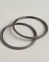 Set of 2 Black Diamond Pave Bangles