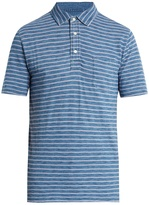 Faherty Multi-striped cotton polo shirt