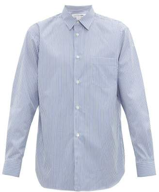 Comme des Garcons Forever Striped Cotton-poplin Shirt - Mens - Blue Multi