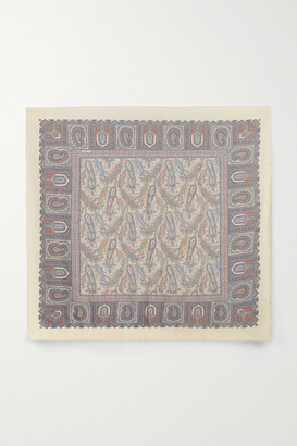 Etro Bombay Paisley-print Wool And Silk-blend Scarf - Purple