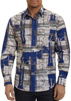 Robert Graham Orwell Print Classic Fit Button-Down Shirt