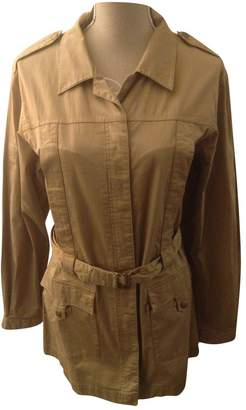Aigle Beige Cotton Trench Coat for Women