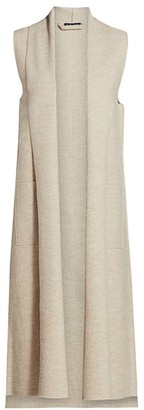 Eileen Fisher Long Shawl Collar Vest