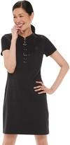 Chaps Women's Short Sleeve Lace Up T-Shirt Dress