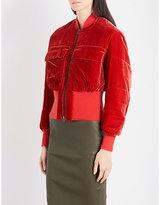 By Malene Birger Banu velvet bomber jacket