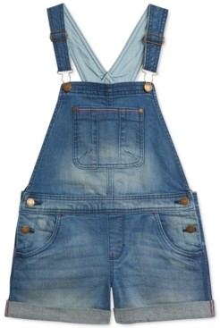 Tommy Hilfiger Little Girls Stretch Denim Shortalls