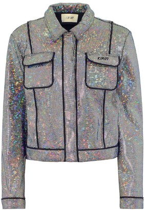 Kirin Embellished stretch-cotton jacket