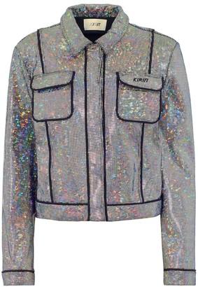 Kirin Embellished stretch-cotton jacket