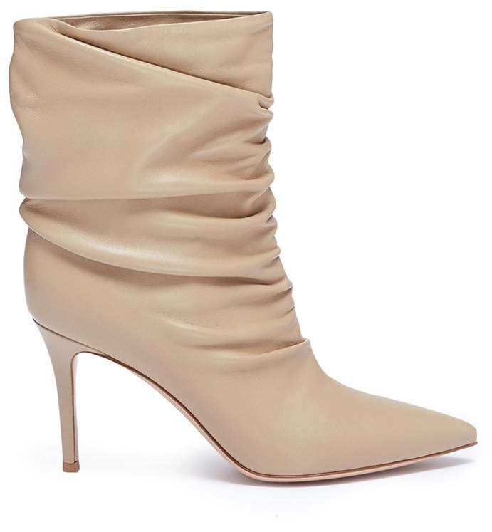 Gianvito Rossi Ruched nappa leather boots