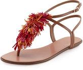 Aquazzura Wild Thing T-Strap Flat Sandal, Multi