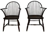 One Kings Lane Vintage Windsor Chairs - Set of 2 - brown