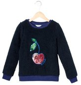 Little Marc Jacobs Girls' Textured Embellished Sweater w/ Tags