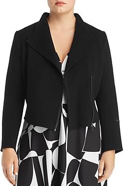Marina Rinaldi Nascita Cropped Wool Jacket