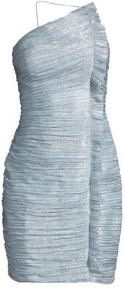 Aidan Mattox Metallic Ruched Knit Dress