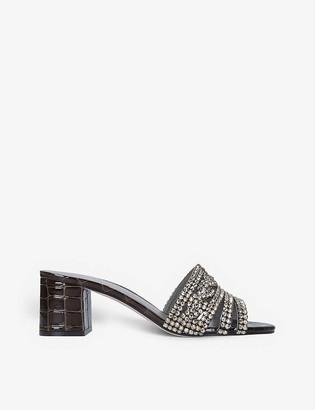 Gina Visage jewel-embellished leather mules