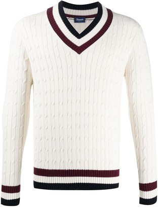 Drumohr V-Neck Cable Knit Jumper