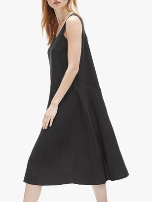Eileen Fisher Organic Linen Scoop Neck Dress