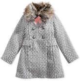 Jessica Simpson Tweed Coat with Faux-Fur Trim, Little Girls (4-6X)