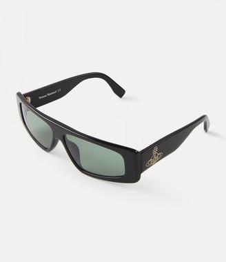 Vivienne Westwood Retro Square Sunglasses Black