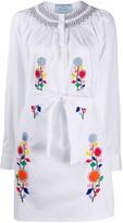 Prada Floral Embroidered Dress