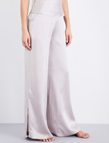 Fleur Du Mal Wide-leg silk-charmeuse pyjama bottoms
