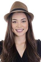 Simplicity Summer Short Brim Straw Fedora Hat, SM