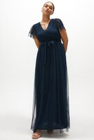 Thumbnail for your product : Coast Curve Tulle V-necktie Belt Maxi Dress