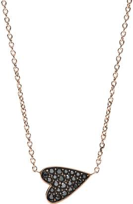 Fossil Heart Glitz Rose Gold Tone Necklace