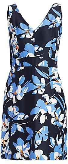 Milly Hibiscus Print Sheath Dress