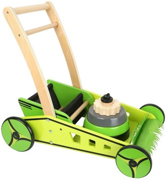 Small Foot Wooden Toys Lawn Mower and Baby Walker Playset