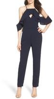 Adelyn Rae Women's Cold Shoulder Jumpsuit