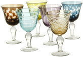 Pols Potten Mixed Cuttings Wine Glasses - Set of 6 - Multicolour