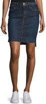 Frame Le Staggered Denim Mini Skirt, Catamaran
