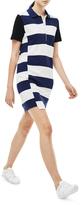 Lacoste Broken Rugby Stripe Polo Dress