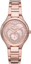 MICHAEL Michael Kors 36mm Lainey Round Glitz Bracelet Watch, Rose Golden