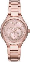 MICHAEL Michael Kors 36mm Lainey Round Glitz Bracelet Watch, Rose Golden