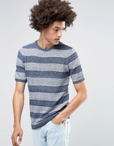 Asos Knitted T-shirt with Stripe