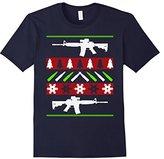 Women's AR-15 Rifle Machine Gun Ugly Christmas Sweater Shirt Small