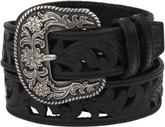 Frye Laser Cut Western Leather Belt