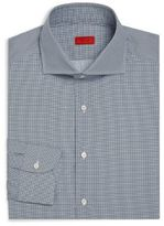 Isaia Geometric Printed Dress Shirt