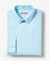 Express extra slim fit micro print cotton dress shirt
