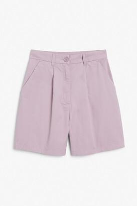 Monki High waist tailored shorts
