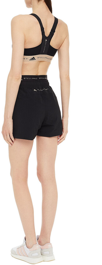 Thumbnail for your product : adidas by Stella McCartney Mesh-paneled Stretch Sports Bra