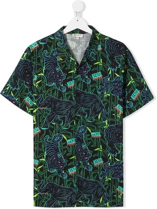 Kenzo TEEN jungle tiger print shirt