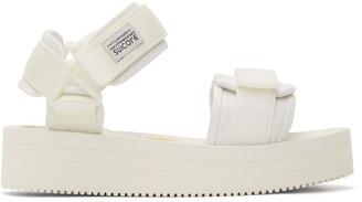 Suicoke White CEL-VPO Sandals