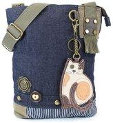 Chala Handbag Patch Cross-body LAZZY CAT Denim Blue Bag