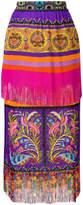 Etro multi-print midi skirt