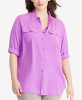 Lauren Ralph Lauren Plus Size Jersey Workshirt